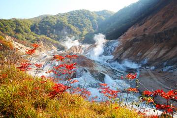 Noboribetsu, Hokkaido, Japan at Jigokudani Hell Valley