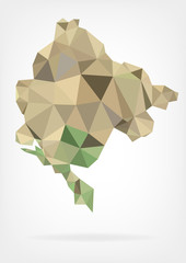 Low Poly Map of Montenegro