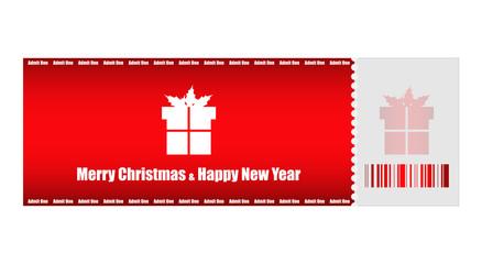 admit one Christmas ticket