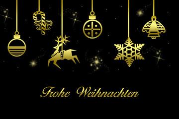 Goldene Weihnachtsmotive