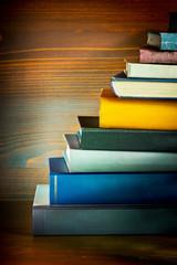books in the bookshelf