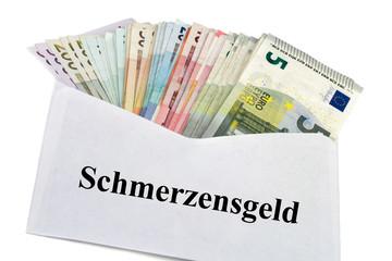 Geldscheine im Briefumschlag - Schmerzensgeld
