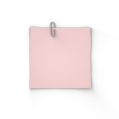 Single Blank Adhesive Paper Note With Paperclip