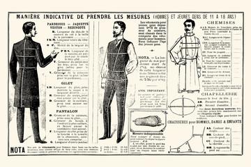 Mesure pour tailleur