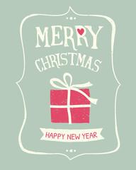 Retro Christmas Greeting Card Design