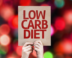 Low Carb Diet card with colorful background