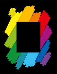 Rainbow Colored Brush Strokes Vertical © Peter Hermes Furian