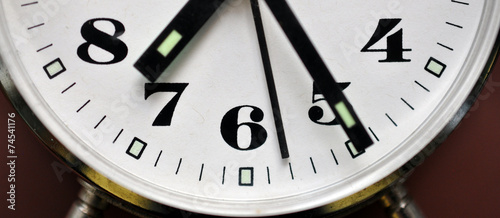 canvas print picture Detailed view of the clock