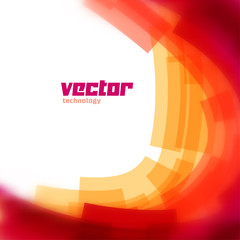 Vector background with red blurred lines