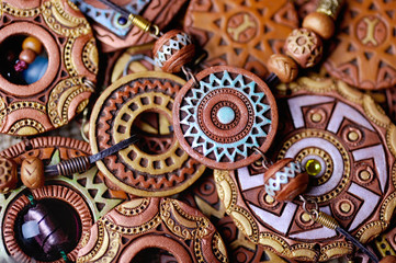 ethnic jewelery from clay
