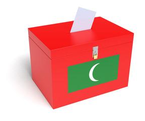 Maldivian Flag Ballot Box