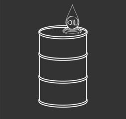 The contour of the barrel and drop of oil