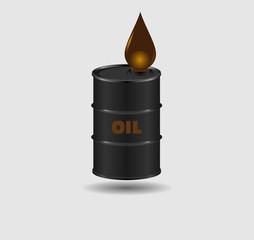 Barrel and a drop of oil