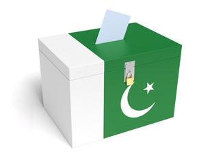 Pakistani Flag Ballot Box