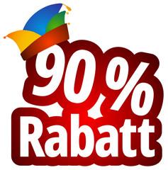 90 % Rabatt