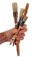 Les pinceaux en main