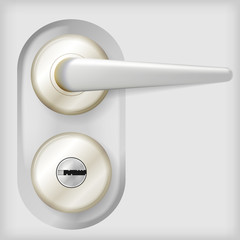 Vector illustration of door handle.