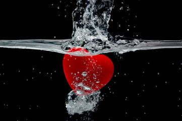 Corazón al agua