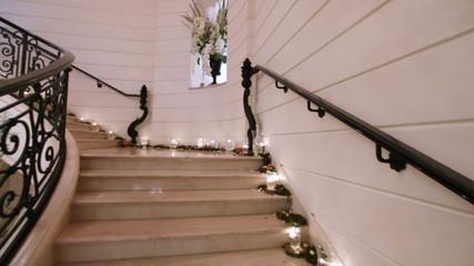 Marble white staircase