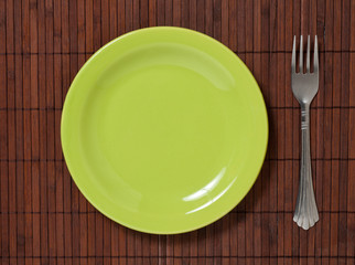 fork with plate