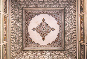 decorated cieling at the Hawa Mahal