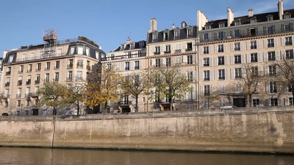 Seine embankment, Paris, France.