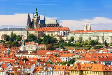 Prague castle and St. Vitus Cathedral, Czech Republic.