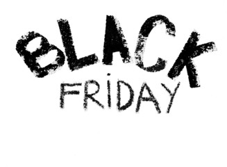 Black Friday advertisement isolated on white