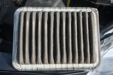 dirty air filter for car