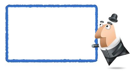 Polygone - Fond Blanc - Bleue