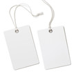 Leinwanddruck Bild - Blank paper label or cloth tag set isolated