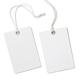 Blank paper label or cloth tag set isolated - 74545558