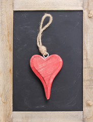 one hanging heart