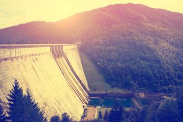 Big dam in beautiful landscape