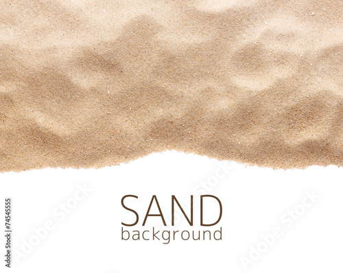 Poster Zandwoestijn The sand scattering isolated on white background