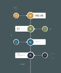 Minimal infographics time line design