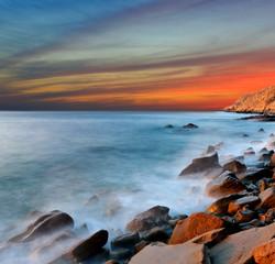 Nice sunset on sea