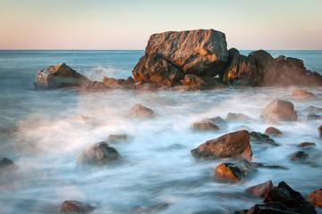 Sea scene on early morning