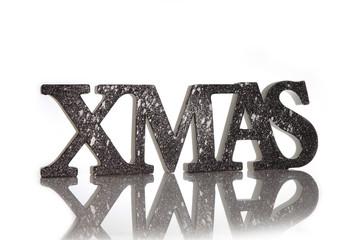 Xmas Schriftzug zu Weihnachten in 3D