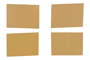 Four Pieces of Cardboard
