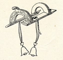 Estonian wooden saddle (18 century)