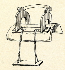 Estonian wooden saddle for woman (18 century)