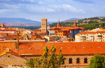 day view of Teruel with landmarks