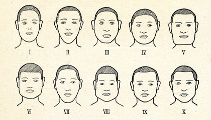 Face types by Rudolf Pöch