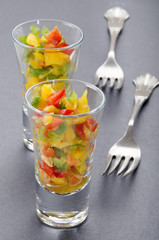 bell pepper in a shot glass