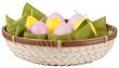 Easter candels in a wicker basket