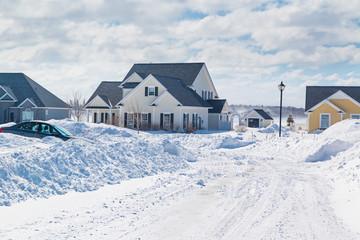 Winter Neighborhood