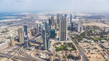Fototapeta View of Sheikh Zayed Road in downtown Dubai