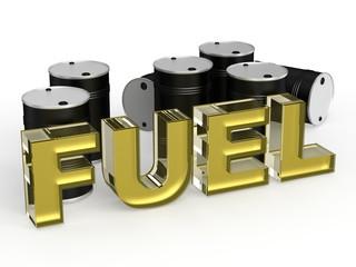 Fuel with barrel