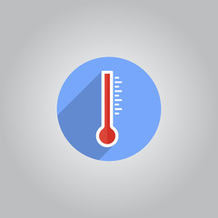 Vector flat thermometer